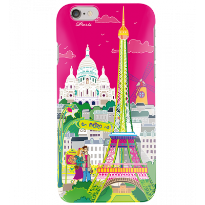 Schale für iPhone 6 - I Cover 6 Paris rose