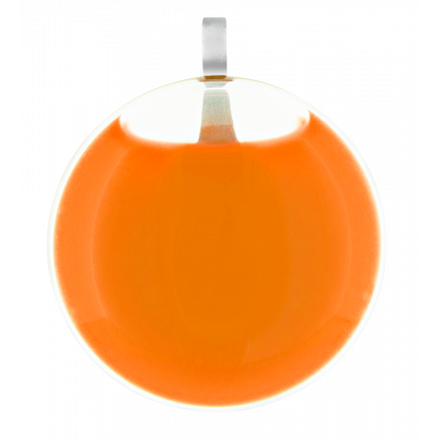Necklace - Galet Mini Milk Orange
