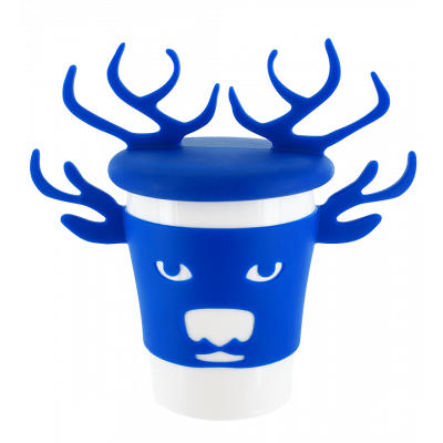 Mug and lid - Trophy Mug Blue Deer