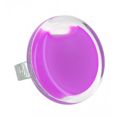 Cachou Medium Milk - Bague en verre Lilas
