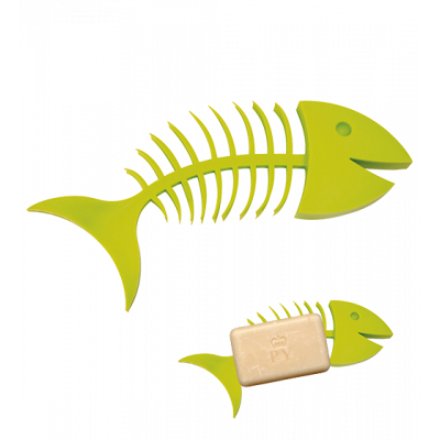 Soap dish - Fishbone Soap Green