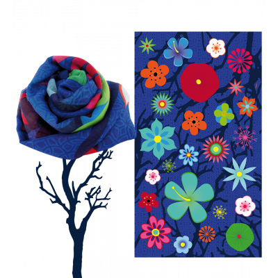 Scarf - Balade Blue Flower