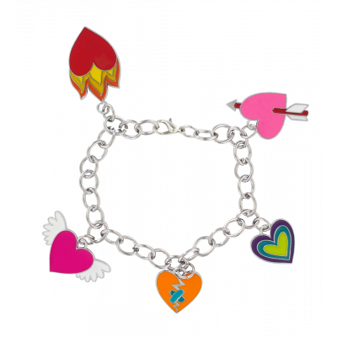 Charmant - Bracelet charms Cœur