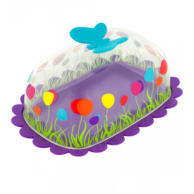 Butter dish - Butter Fly Purple