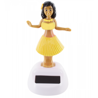 Solar-powered hula girl - Hawaïan Girl Yellow