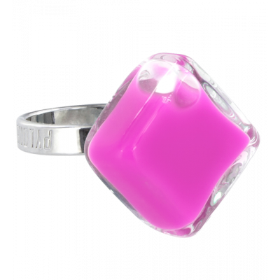 Glass ring - Losange Nano Milk Lilas