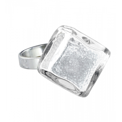 Losange nano billes - Glass ring Crystal