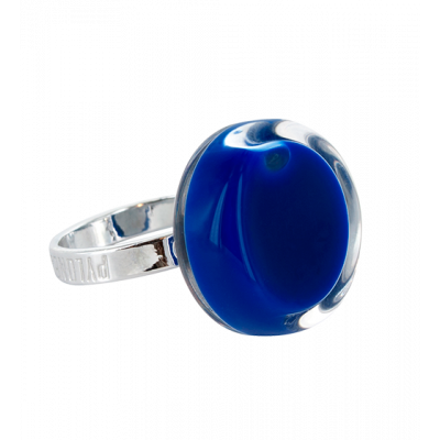 Cachou Nano Milk - Anello in vetro Blu scuro