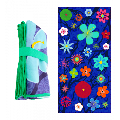 Microfibre towel - Body DS Blue Flower