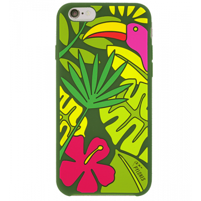 Coque souple pour iPhone 6 -Tropical Jungle Vert