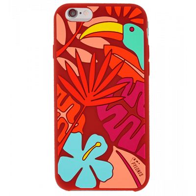 Tropical Jungle - Coque souple pour iPhone 6 Rouge