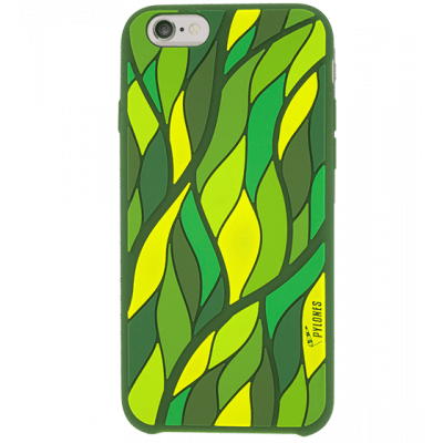 ihone 6 flexible case - Tropical Leaf Green