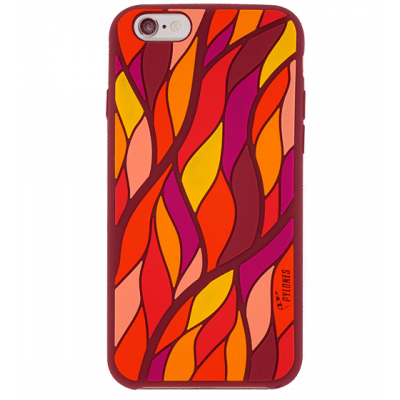 Tropical leaf - Cover morbida per iPhone 6 Rosso