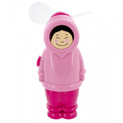 Pocket fan - Eskimo Girl Pink