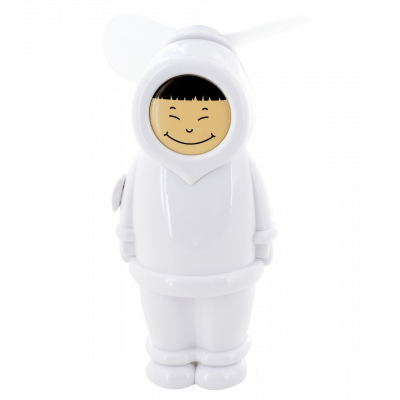 Pocket fan - Eskimo Boy White