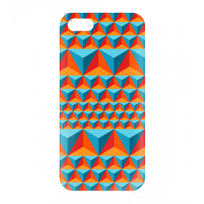 I Cover 5 Diamonds Effect - Cover per iPhone 5, 5S, SE Blu
