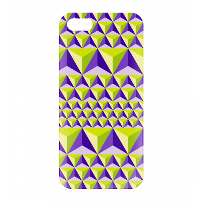 I Cover 5 Diamonds Effect - Cover per iPhone 5, 5S, SE Viola