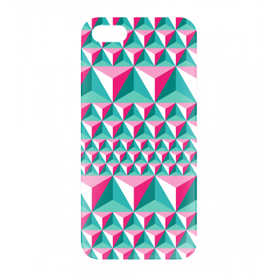 Case for iPhone 5, 5S, SE - I Cover 5 Diamonds Effect Pink