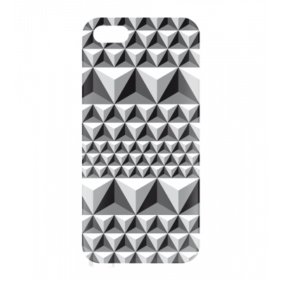 Coque pour iPhone 5, 5S, SE - I Cover 5 Diamonds Effect Noir