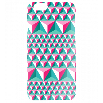 I Cover 6 Diamonds Effect - Cover per iPhone 6, 6S Rosa