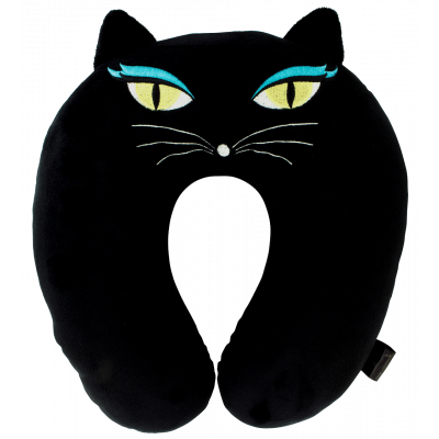 Cat My Neck - Travel pillow Black Cat