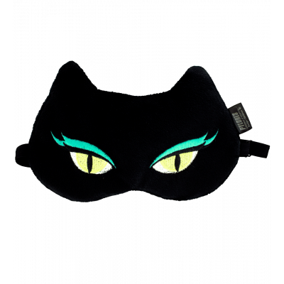 Masque de nuit / sommeil - Cat my eyes Black Cat