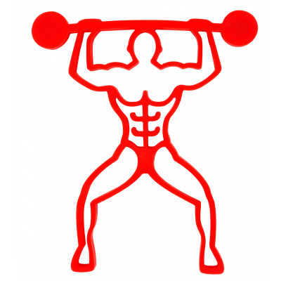Magnetic Trivet - Bodybuilder Red