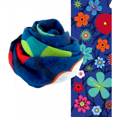 Foulard - Escapade Blue Flower