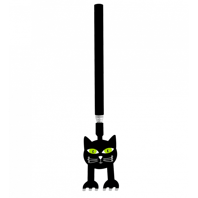 Pylones Posacenere portatile Nero nero e bianco