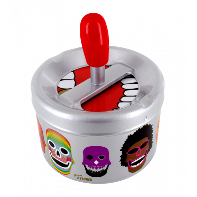 Push-button ashtray - Pousse Pousse Skull 3