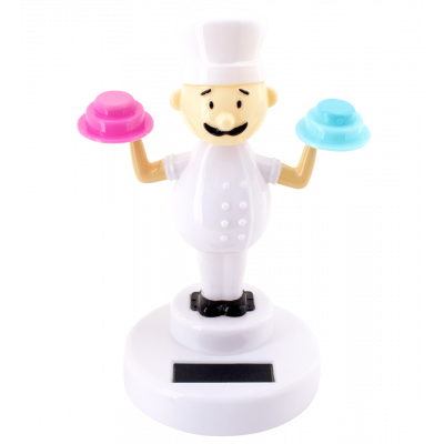Solar powered dancing figurines - 1-2-3 Soleil Chef