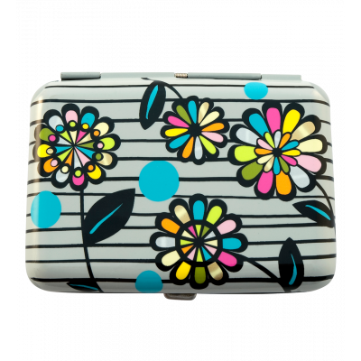 Boite / Etui à cigarettes - Cigarette Case Black Flower