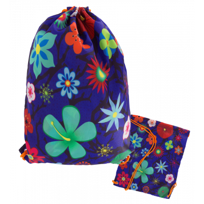 Swimming bag - Swim DS Blue Flower