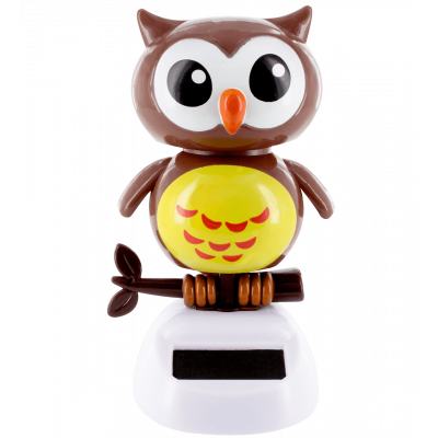 Solar powered dancing figurines - 1-2-3 Soleil Owl