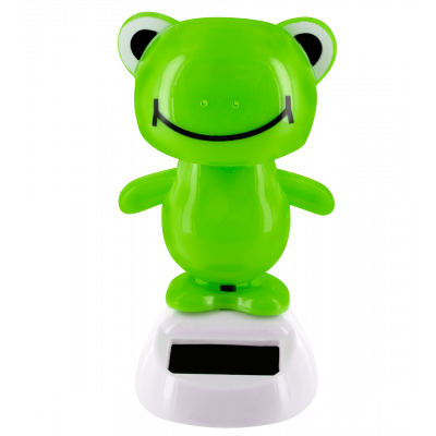 Solar powered dancing figurines - 1-2-3 Soleil Frog