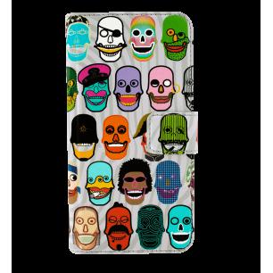 Custodia a portafoglio per iPhone 6, 6S, 7 - Iwallet 2 Skull 3