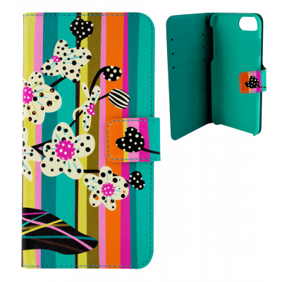 Flap cover/wallet case for iPhone 6, 6S, 7 - Iwallet 2 Orchid