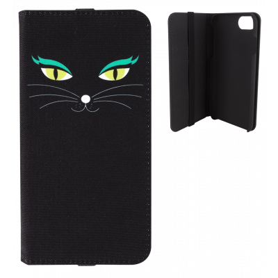 Coque à clapet pour iPhone 6, 6S, 7 - Iwallet 2 Black Cat