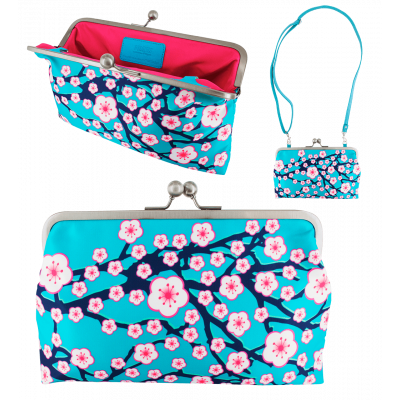 Pochette fermoir - Clip Wide Cerisier