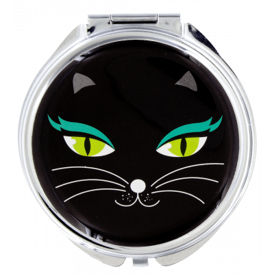 Pocket mirror - Lady Look Black Cat