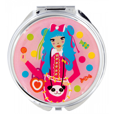 Pocket mirror - Lady Look Kawai