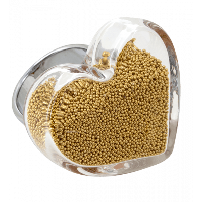 Coeur Medium Billes - Glasring Gold