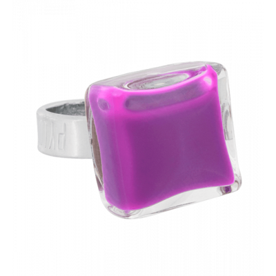 Glass ring - Carré Mini Milk Lilas