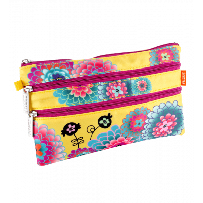 Zip It - 3 zip pouch Dahlia