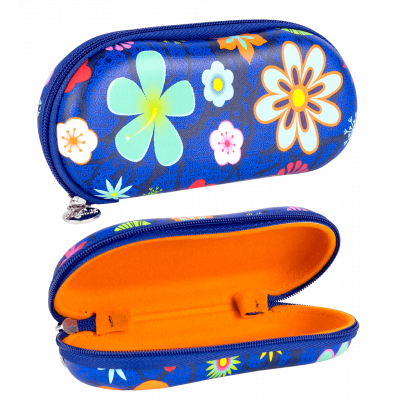 Hard glasses case - Voyage Blue Flower