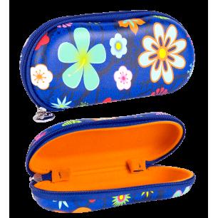 Étui à lunettes rigide - Voyage Blue Flower