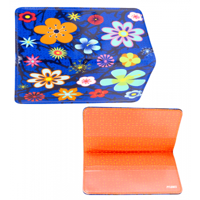 Chequebook holder - Voyage Blue Flower