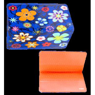 Porte chéquier - Voyage Blue Flower