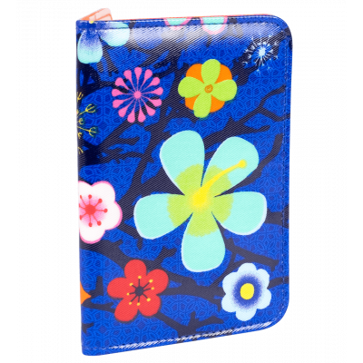 Card holder - Voyage Blue Flower