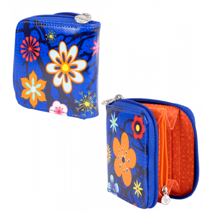 Kleine Brieftasche - Voyage Blue Flower